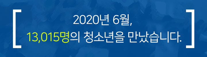 2020년 5월, 1,083명의 청소년을 만났습니다.